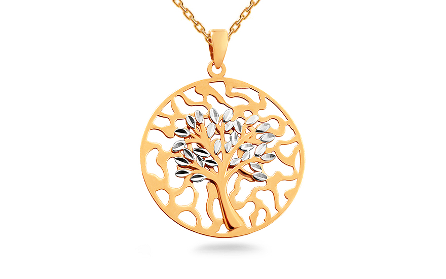 4567c3dcb Arany kétszínű medál Életfa
