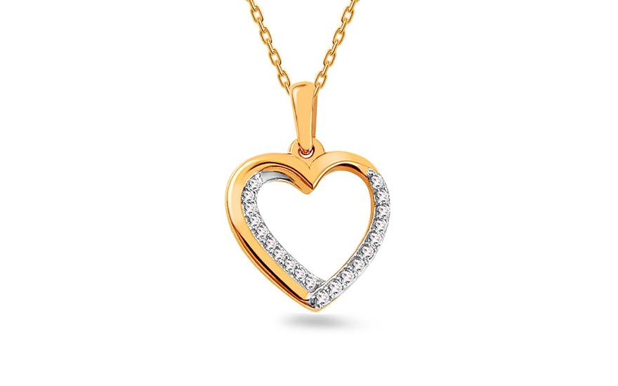 f41a234d8 Arany medál gyémántokkal 0,060 ct szív