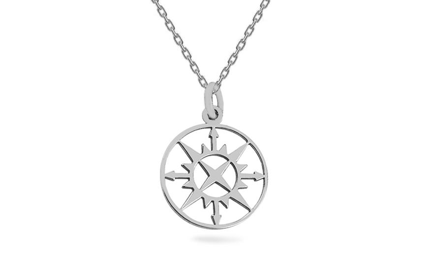 1ecee5ec9c Ezüst nyaklánc medállal Iránytű, nőknek (IS2424) | aEkszerek.hu