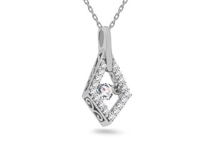Dancing Diamonds gyémánt medál 0,310 ct