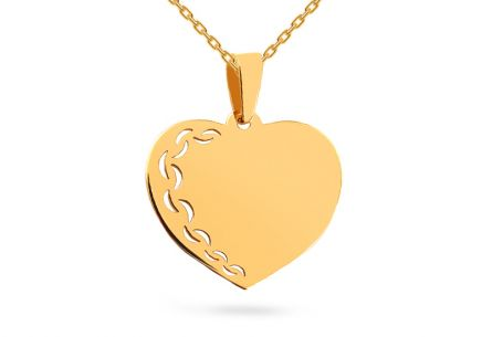 bfc73feaa Arany medál szív gravírozással
