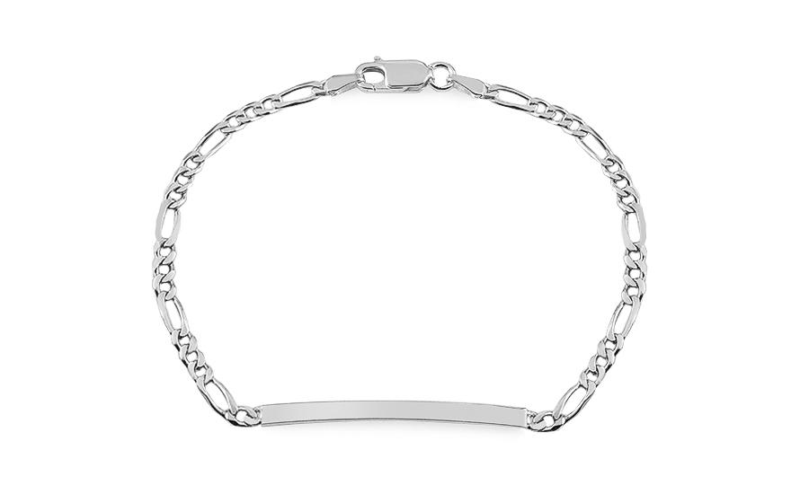 1d663b41e Női ezüst karkötő lemezzel
