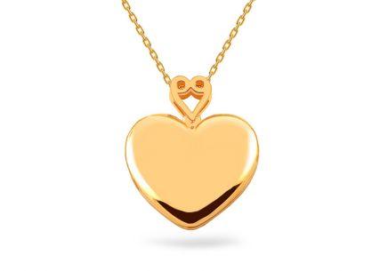 6666f75a1 Arany fényképtartó szív medál