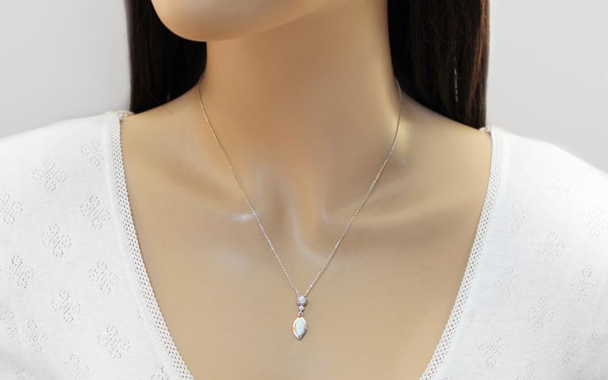 4e513a09b Opál nyaklánc fehér aranyból