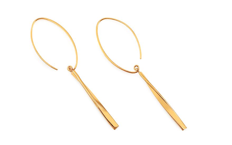minőségi termékek híres márka kiváló minőségű Stílusos arany lógós fülbevaló, nőknek (IZ18598) | aEkszerek.hu